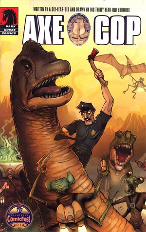 Halloween ComicFest 2012 Axe Cop Mini Comic - FREE - (Limit 1 per customer - handling fee applies)
