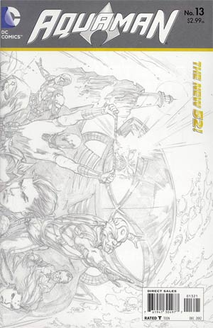 Aquaman Vol 5 #13 Incentive Ivan Reis Sketch Cover