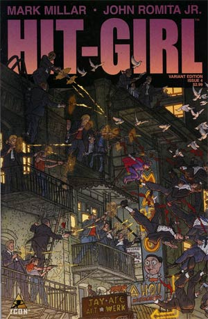 Hit-Girl #4 Incentive Geof Darrow Variant Cover