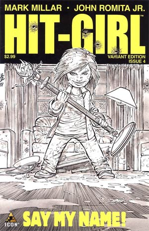 Hit-Girl #4 Incentive John Romita Jr Sketch Cover