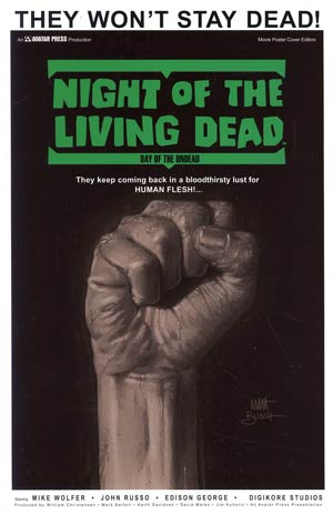 Night Of The Living Dead Day Of The Undead GN Incentive Movie Poster Variant Cover