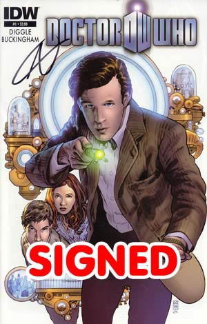 Doctor Who Vol 5 #1 1st Ptg Regular Mark Buckingham Cover Signed By Andy Diggle