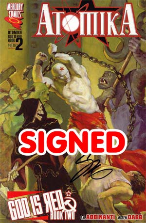 Atomika God Is Red Vol 2 TP Signed By Sal Abbinanti