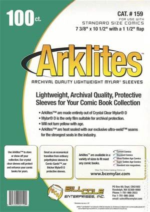 Standard Size Arklite Comic Book Bags 100-Pack