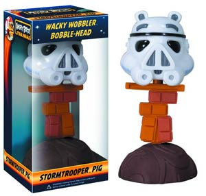 Angry Birds Star Wars Stormtrooper Piggy Wacky Wobbler