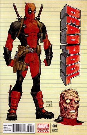 Deadpool Vol 4 #1 Incentive Tony Moore Design Variant Cover