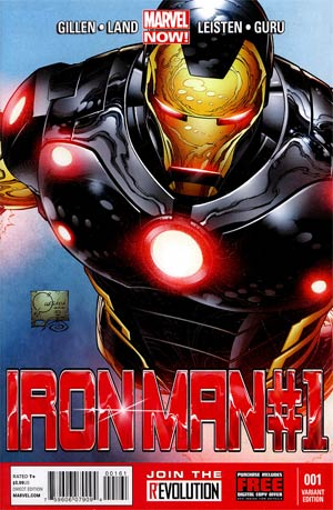 Iron Man Vol 5 #1 Incentive Joe Quesada Variant Cover