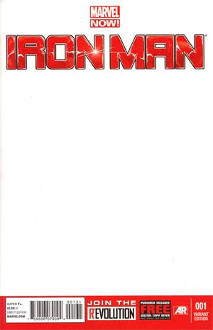 Iron Man Vol 5 #1 Variant Blank Cover