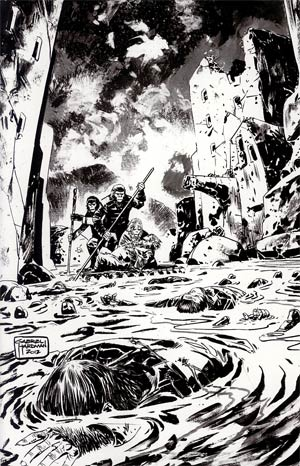 Planet Of The Apes Cataclysm #3 Incentive Gabriel Hardman Virgin Sketch Cover