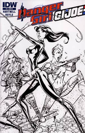 Danger Girl GI Joe #4 Incentive J Scott Campbell Sketch Cover