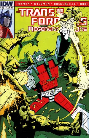 Transformers Regeneration One #85 Incentive Geoff Senior Variant Cover