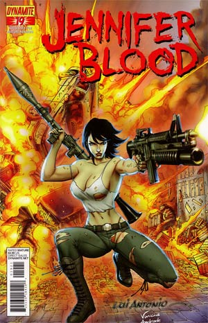 Garth Ennis Jennifer Blood #19 Incentive Lui Antonio Risque Variant Cover