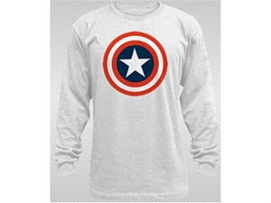 Captain America 80s Captain Thermal Long Sleeve Large
