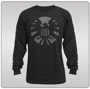 SHIELD Night Shield Black Thermal Long Sleeve Large