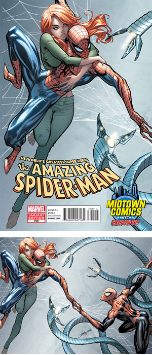 Amazing Spider-Man Vol 2 #700 Midtown Exclusive J Scott Campbell Connecting Variant Cover (Part 1 of 2)
