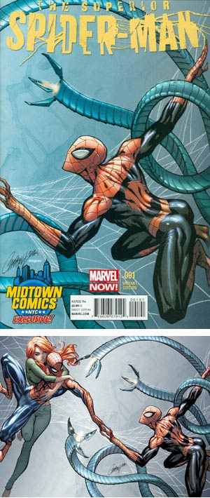 Superior Spider-Man #1 Midtown Exclusive J Scott Campbell Connecting Variant Cover (Part 2 of 2) - Limit 1 per customer