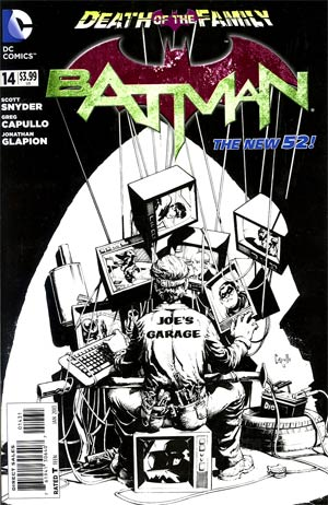 Batman Vol 2 #14 Incentive Greg Capullo Sketch Cover (Death Of The Family Tie-In)