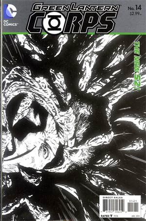 Green Lantern Corps Vol 3 #14 Incentive Scott Clark Sketch Cover (Rise Of The Third Army Tie-In)