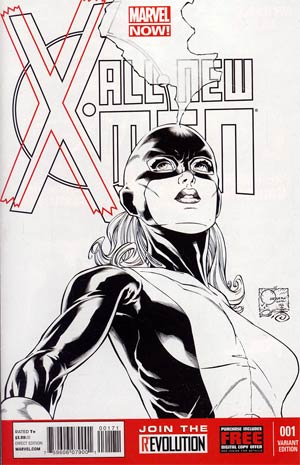 All-New X-Men #1 Cover H Incentive Joe Quesada Sketch Cover