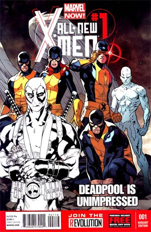 All-New X-Men #1 Incentive Unimpressed Deadpool Sketch Cover