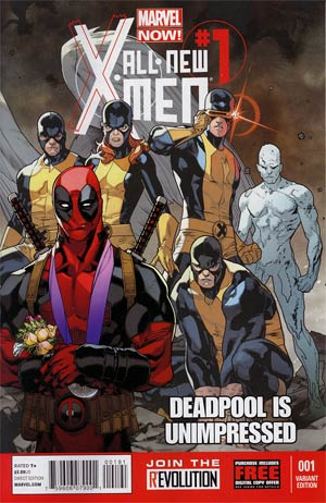 All-New X-Men #1 Cover E Variant Unimpressed Deadpool Cover