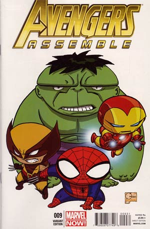 Avengers Assemble #9 Incentive Joe Quesada Variant Cover