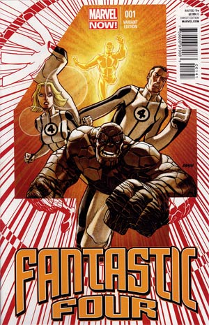 Fantastic Four Vol 4 #1 Incentive Dave Johnson Variant Cover