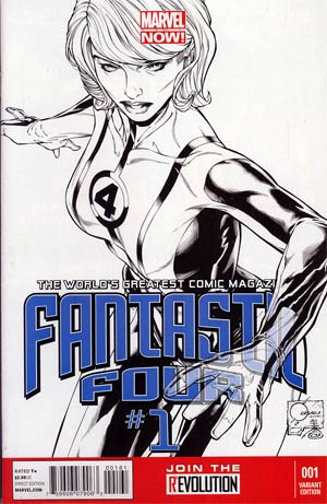 Fantastic Four Vol 4 #1 Incentive Joe Quesada Sketch Cover