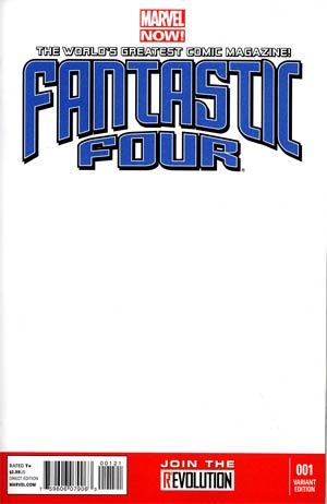 Fantastic Four Vol 4 #1 Variant Blank Cover