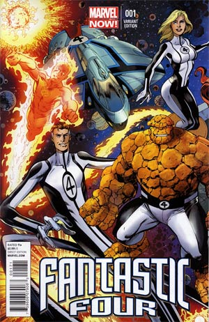 Fantastic Four Vol 4 #1 Variant Mark Bagley Connecting Cover