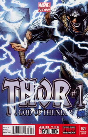 Thor God Of Thunder #1 Incentive Joe Quesada Variant Cover