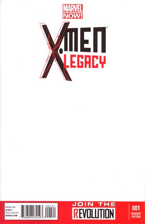 X-Men Legacy Vol 2 #1 Variant Blank Cover