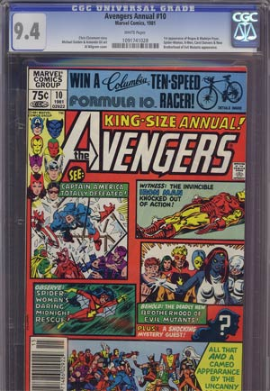 Avengers Annual #10 CGC 9.4