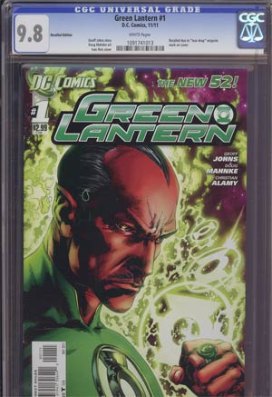 Green Lantern Vol 5 #1 1st Ptg Regular Ivan Reis Cover Recall Version CGC 9.8