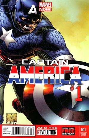 Captain America Vol 7 #1 Incentive Joe Quesada Variant Cover