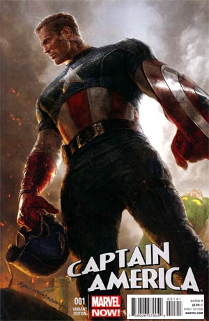 Captain America Vol 7 #1 Incentive Ryan Meinerding Variant Cover