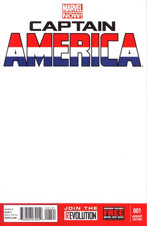 Captain America Vol 7 #1 Variant Blank Cover