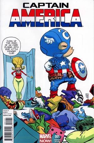 Captain America Vol 7 #1 Variant Skottie Young Baby Cover