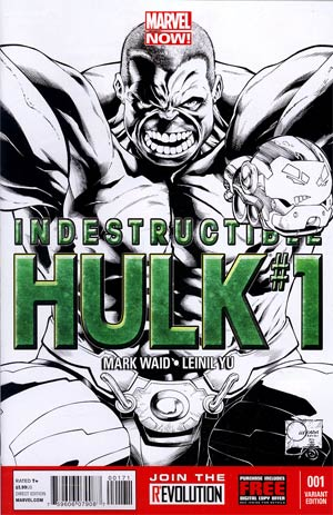 Indestructible Hulk #1 Incentive Joe Quesada Sketch Cover