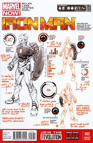 Iron Man Vol 5 #2 Incentive Carlo Pagulayan Design Variant Cover