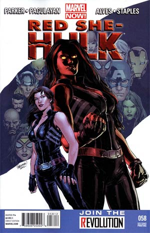 Red She-Hulk #58 2nd Ptg Wellington Alves Variant Cover