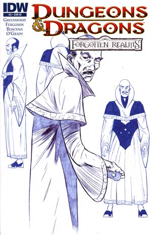 Dungeons & Dragons Forgotten Realms #5 Cover C Incentive Lee Ferguson Design Variant Cover