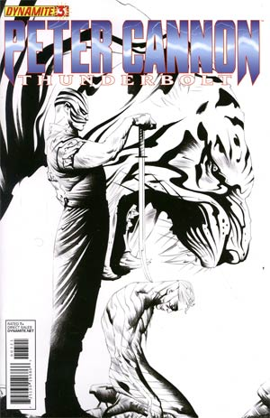 Peter Cannon Thunderbolt Vol 2 #3 Incentive Jae Lee Black & White Cover