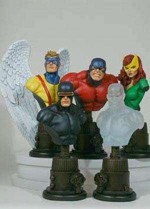 X-Men Original Team Variant Mini Bust 5-Pack By Bowen Website Exclusive