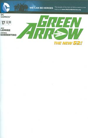 Green Arrow Vol 6 #17 Variant We Can Be Heroes Blank Cover