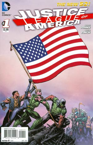 Justice League Of America Vol 3 #1 Regular USA Flag Cover