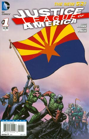 Justice League Of America Vol 3 #1 Variant Arizona Flag Cover