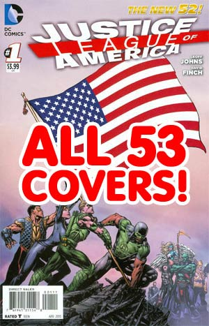 Justice League Of America Vol 3 #1 Complete 53 Flag Covers Pack (Does Not Include Combo Edition)