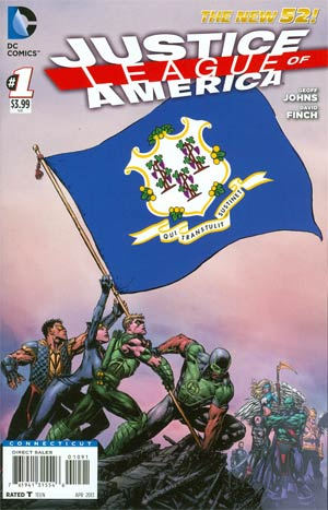 Justice League Of America Vol 3 #1 Variant Connecticut Flag Cover