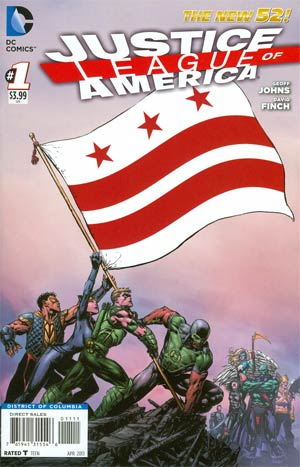 Justice League Of America Vol 3 #1 Variant District Of Columbia Flag Cover